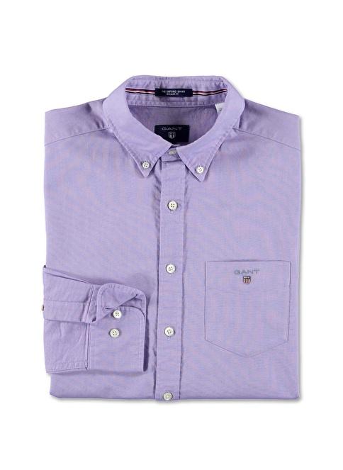 Gant Düz Regular Gömlek Mor